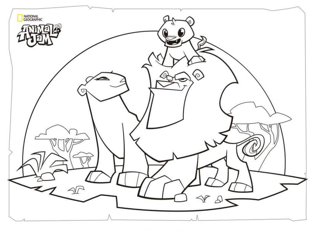 Lion Family Animal Jam Coloring Pages Free Printable 2lfm