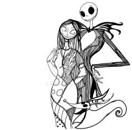 Nightmare Before Christmas Coloring Pages Free cfv1