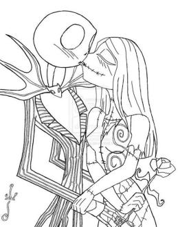 Nightmare Before Christmas Coloring Pages Halloween ygc0