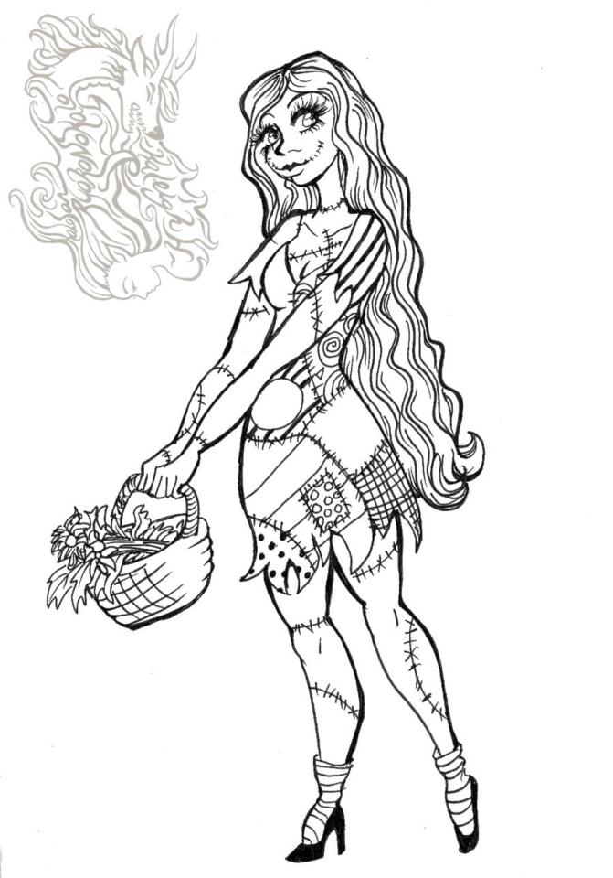 Nightmare Before Christmas Coloring Pages gyj4