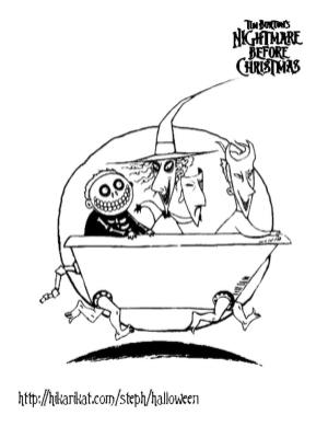 Nightmare Before Christmas Coloring Pages to Print 1asd