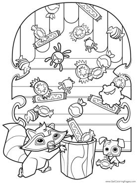 Raccoon Animal Jam Coloring Pages for Kids 6rcn