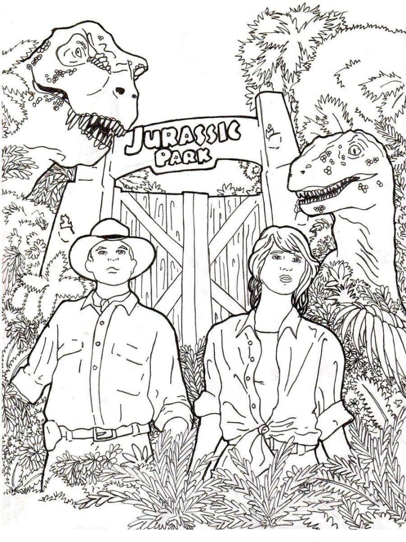 Get This Realistic Jurassic World Coloring Pages 6rel