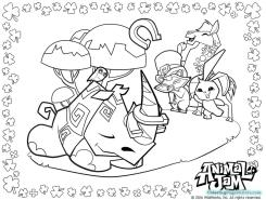 Rhino Animal Jam Coloring Pages for Kids 9rhn