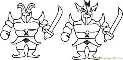 Royal Guards Undertale Coloring Pages for Kids ryg5