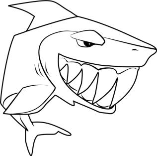 Shark Animal Jam Coloring Pages Free for Kids 3shk