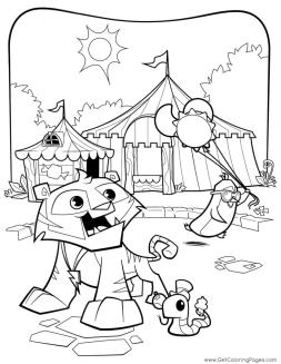 Summer Carnival Animal Jam Coloring Pages Printable 9smc