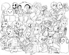 Undertale Coloring Pages Free fre1