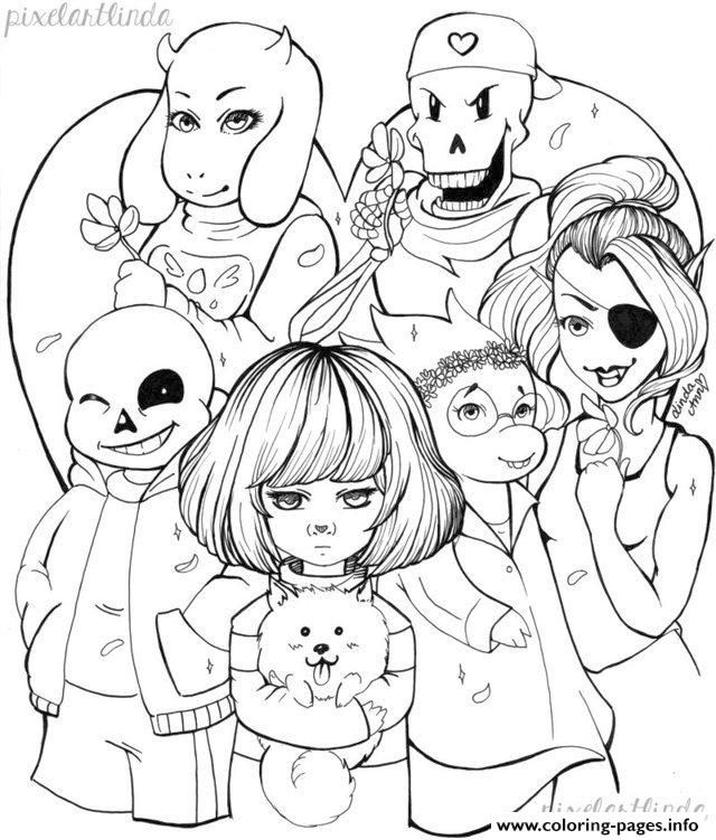 Undertale Coloring Pages Printable kkm8