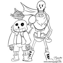 Undertale Coloring Pages to Print ppy8