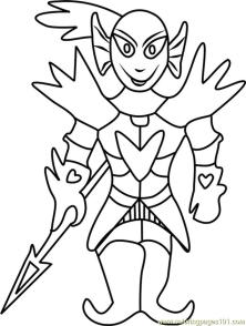 Undying Undertale Coloring Pages for Kids tzx1