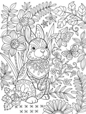 Adult Easter Coloring Pages Difficult Easter Bunny