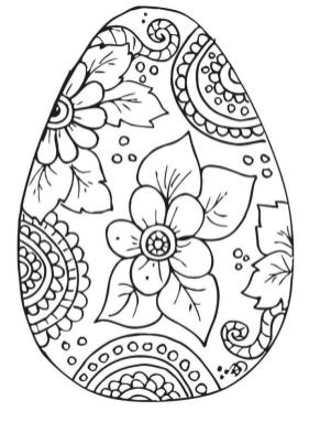 Adult Easter Coloring Pages Easter Egg Printable for Grown Ups