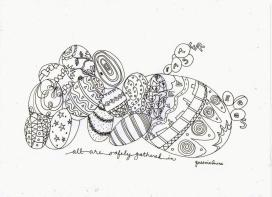 Adult Easter Coloring Pages Easy Easter Egg Doodle