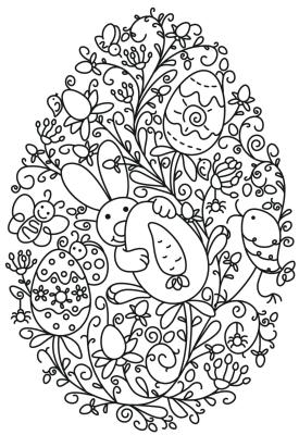 Adult Easter Coloring Pages Funny Easter Bunny Holding an Egg