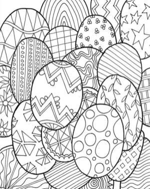 Adult Easter Coloring Pages Hard Easter Egg Design
