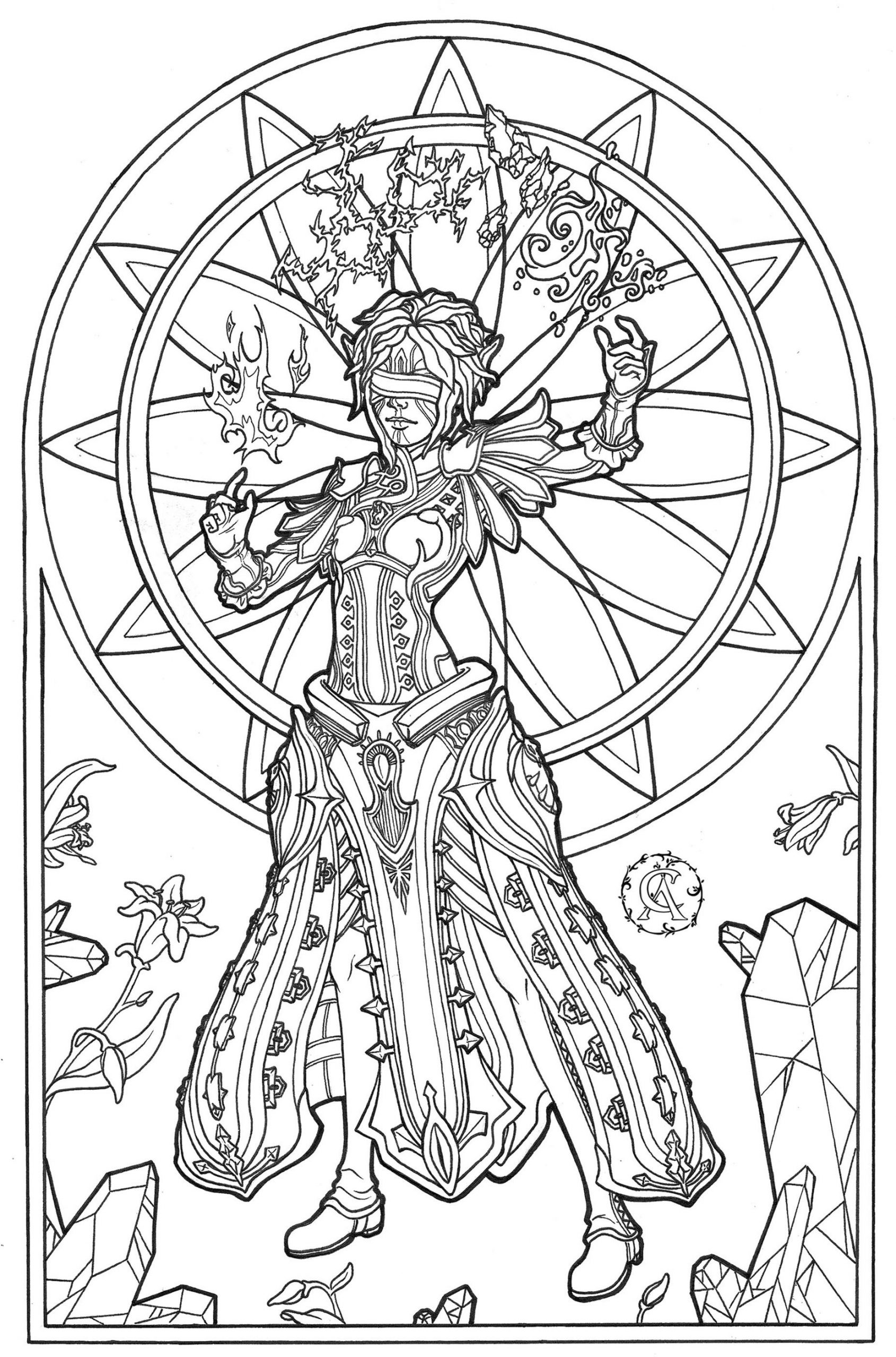 Adult Fantasy Coloring Pages 4blm