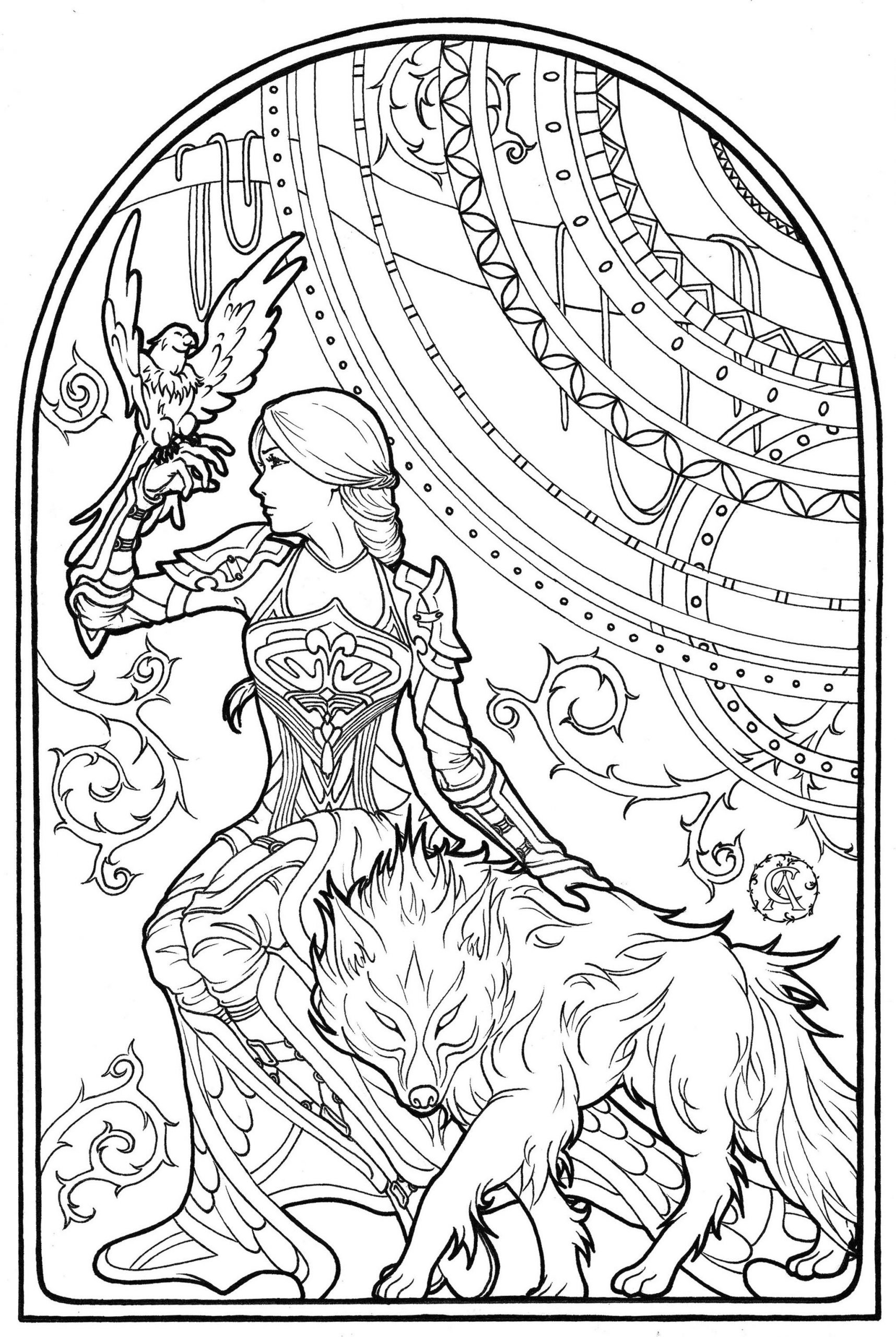 20 Free Printable Adult Fantasy Coloring Pages Everfreecoloring Com