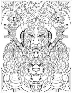 Advanced Fantasy Coloring Pages for Grown Ups 2lvk