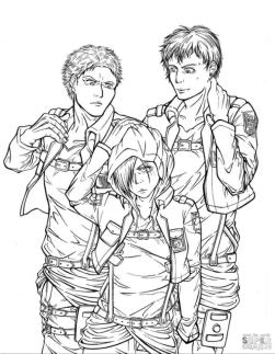 Anime Coloring Pages Attack on Titan Characters