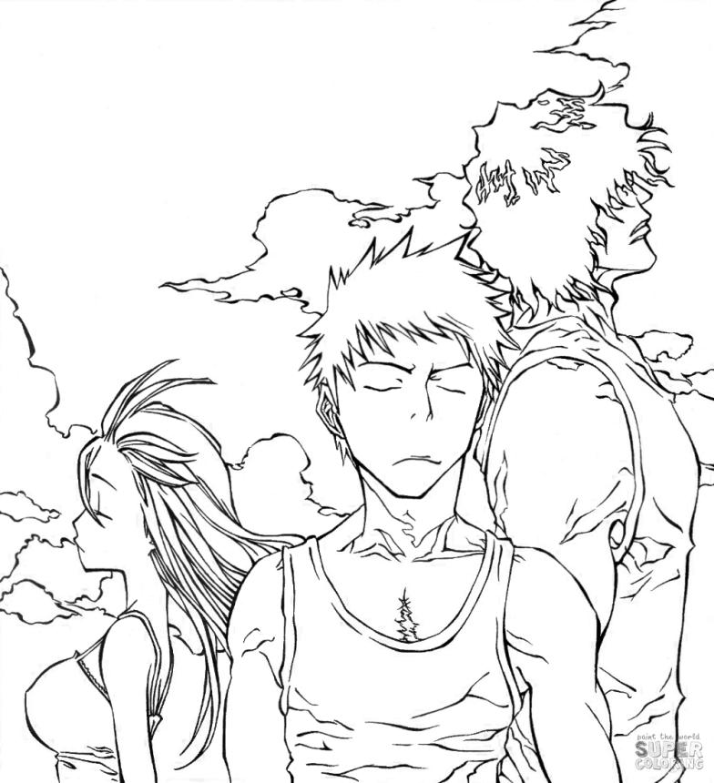 Anime Coloring Pages Bleach Characters