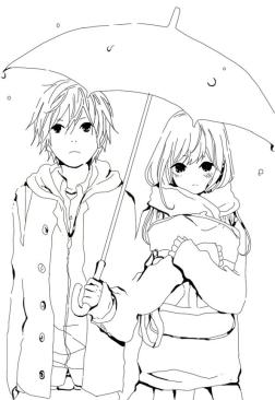 Anime Coloring Pages Cute Couple
