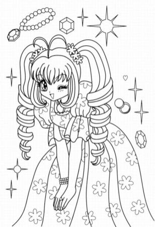 Anime Coloring Pages for Girls Cute Princess