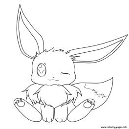 Baby Eevee Coloring Pages Pokemon kp3