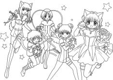 Cute Anime Coloring Pages for Girls Printable