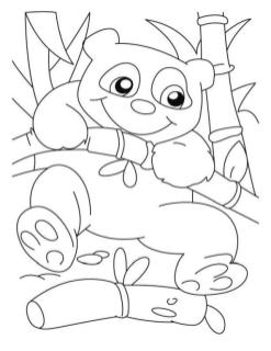 Cute Baby Panda Coloring Pages for Toddlers