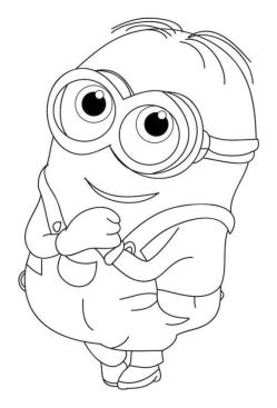 Cute Minion Coloring Pages for Toddlers
