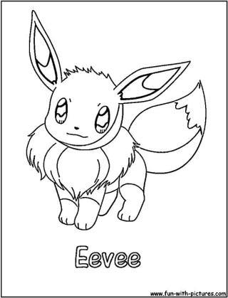 Eevee Coloring Pages Printable 0pd2