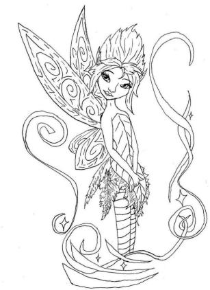 Fairy Coloring Pages to Print for Adults bql9