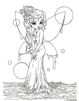 Fairy Coloring Pages to Print for Adults jhr4