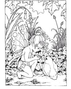 Fairy Coloring Pages to Print for Adults ldt7