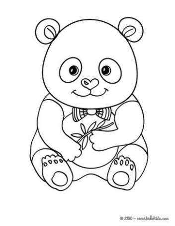 Free Baby Panda Coloring Pages for Kids