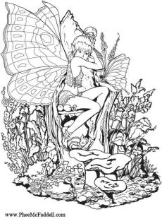 Free Fairy for Adults Coloring Pages 8gq4