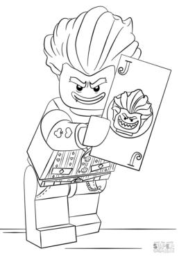 Lego Batman Coloring Pages Joker the Maniac