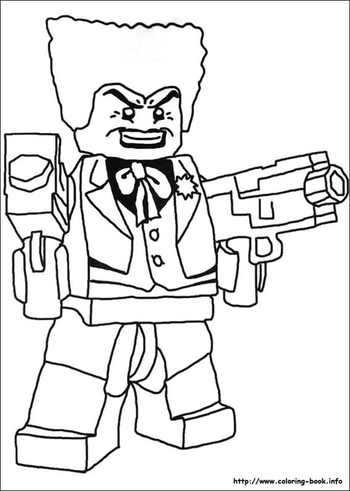 Lego Batman Coloring Pages Joker with Two Guns