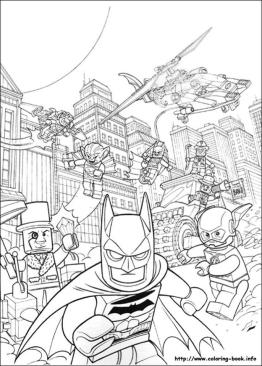 Lego Batman Coloring Pages Lego Batman and The Flash