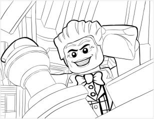 Lego Batman Coloring Pages Lego Joker Looking Down