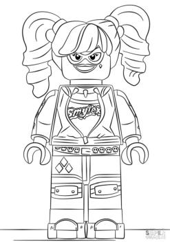 Lego Batman Coloring Pages Menacing Harley Quinn