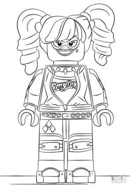 Lego Batman Coloring Pages Menacing Harley Quinn