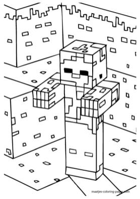 Minecraft Coloring Pages Free Printable 6zbe