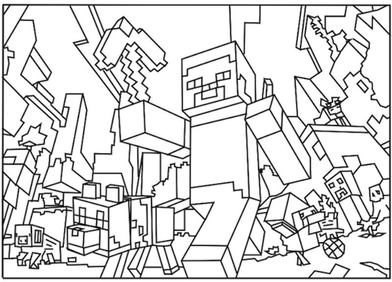 Minecraft Coloring Pages Free Printable 8wlk