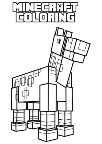 Minecraft Coloring Pages Minecraft Horse