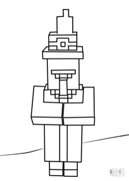 Minecraft Witch Coloring Pages for Kids fk2