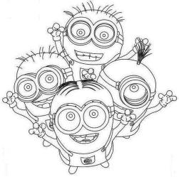 Minion Coloring Pages Free for Toddlers 4mwf