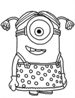 Minion Coloring Pages Free for Toddlers 5crd