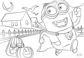 Minion Coloring Pages for Halloween Printable